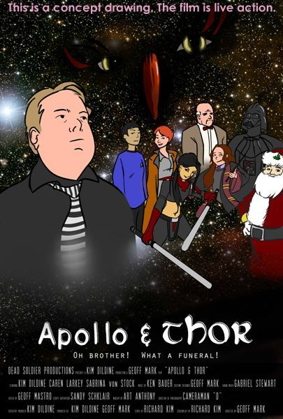 Poster mockup for the film Apollo & Thor